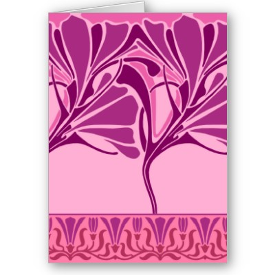 Beautiful art nouveau greeting card from the Art Deco store at Zazzle.com